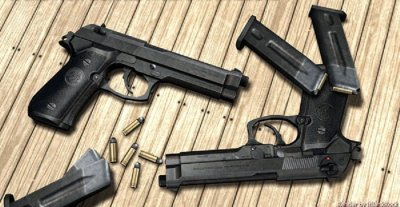 Модель оружия Rock's New Beretta M92FS Animations
