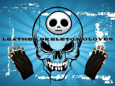 Leather Skeleton Gloves